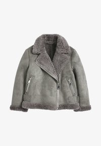 Next - Faux leather jacket - gray - 0