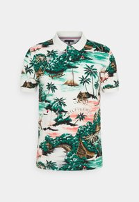 Tommy Hilfiger - ALL OVER HAWAIIAN - Polo shirt - snow white/multi - 0