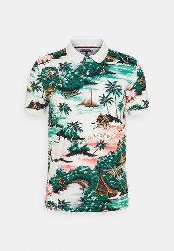 ALL OVER HAWAIIAN - Polo shirt - snow white/multi