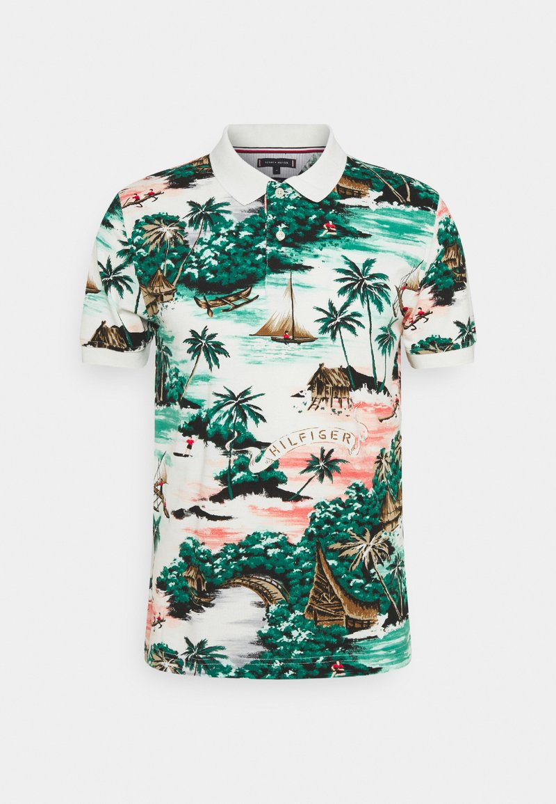 Tommy Hilfiger - ALL OVER HAWAIIAN - Polo shirt - snow white/multi