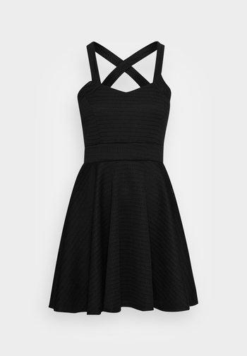 VIKKI SKATER DRESS - Vestito elegante - black