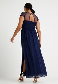 Little Mistress Curvy - CAP SLEEVES BALL GOWN - Robe de cocktail - navy - 2