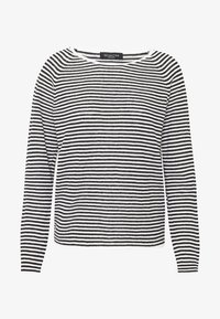 Selected Femme - SLFASTRID O-NECK - Jumper - black/snow white - 3