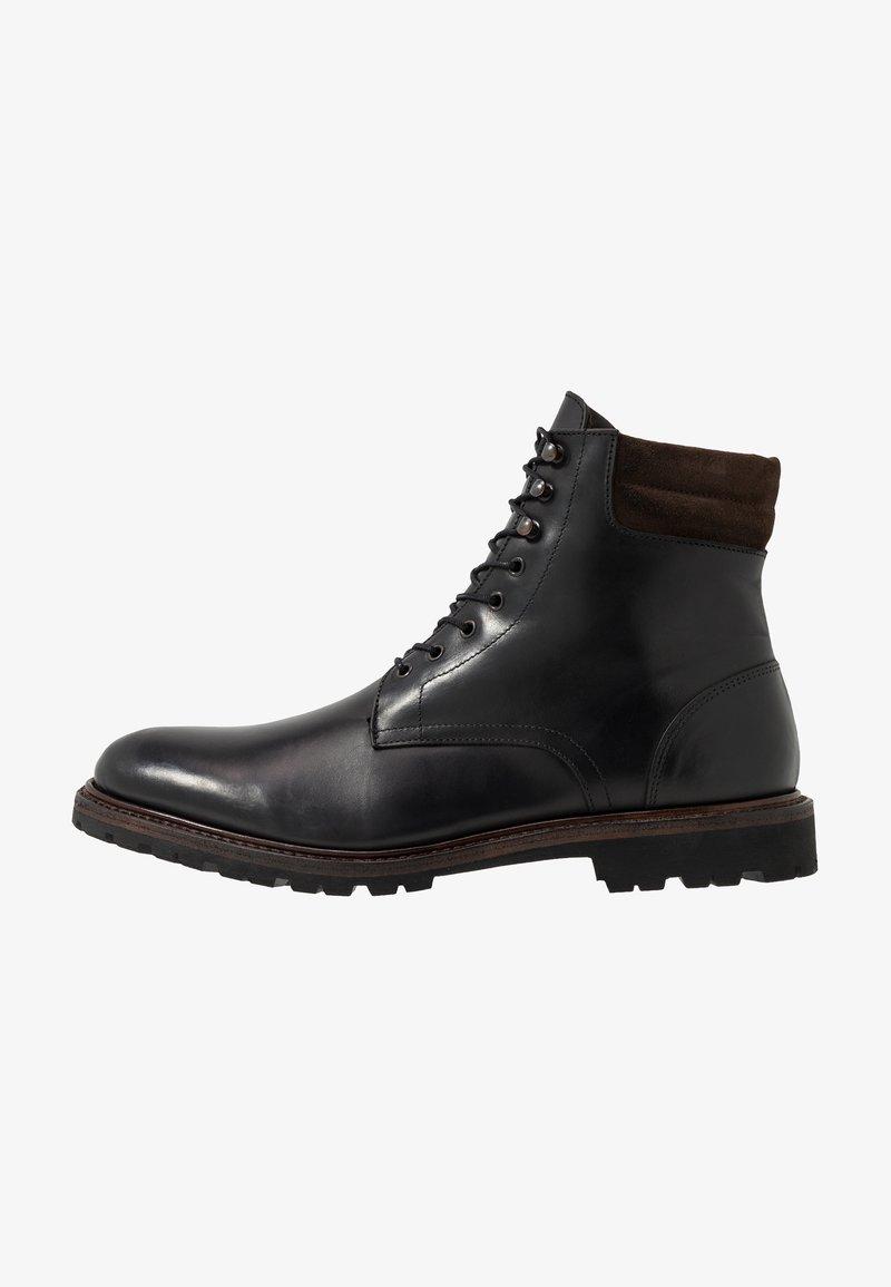 Prime Shoes - Šněrovací kotníkové boty - buttero black