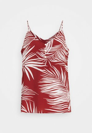 ONLAUGUSTINA SINGLET  - Topper - burnt henna/palm leaf