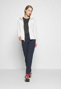 The North Face - WOMENS GLACIER FULL ZIP HOODIE - Fleece jacket - vintage white - 1
