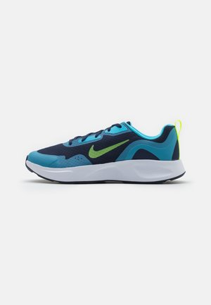 WEARALLDAY UNISEX - Trainers - midnight navy/volt/baltic blue/white