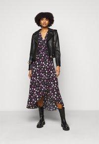 The Kooples - DRESS - Day dress - black/pink - 1