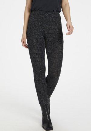KAJAMAL  - Leggings - Trousers - black glitter