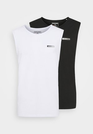 JCOZSLEEVELESS 2PACK - Top - black/white