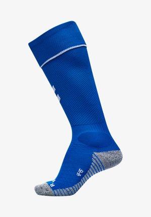 Knee high socks - true blue/white