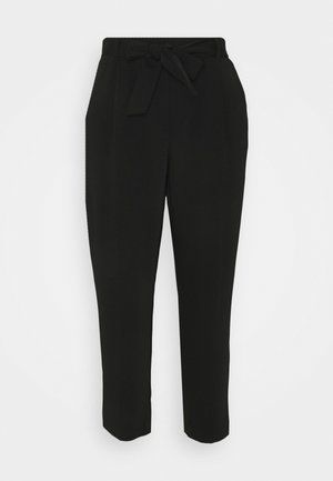 SADIE TIE WAIST SLIM PANTS - Kalhoty - black