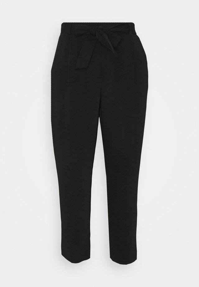 SADIE TIE WAIST SLIM PANTS - Broek - black