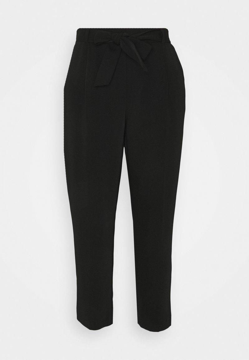 Forever New Petite - SADIE TIE WAIST SLIM PANTS - Spodnie materiałowe - black