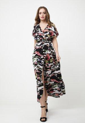 Maxi dress - schwarz weiß