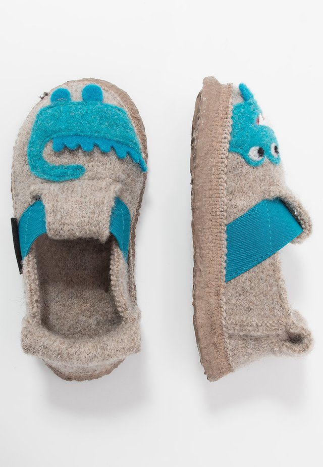 FUNNY CROCO - Slippers - natur