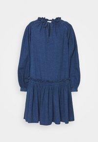 KARI - Denim dress - dark-blue denim