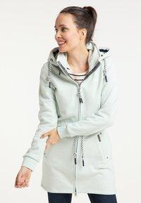 Schmuddelwedda - Zip-up hoodie - rauchmint melange - 0