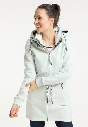 veste en sweat zippée - rauchmint melange