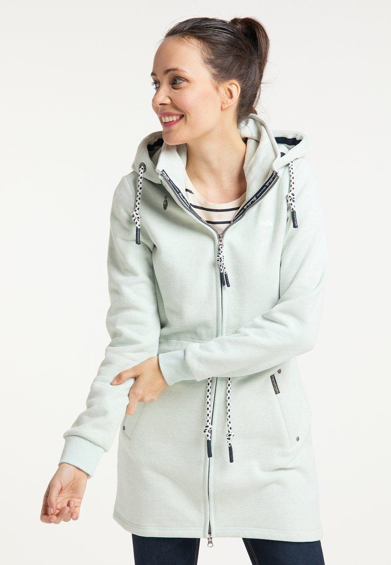 Schmuddelwedda - Zip-up hoodie - rauchmint melange