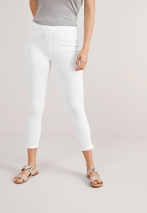JERSEY CROPPED  - Leggings - Trousers - white