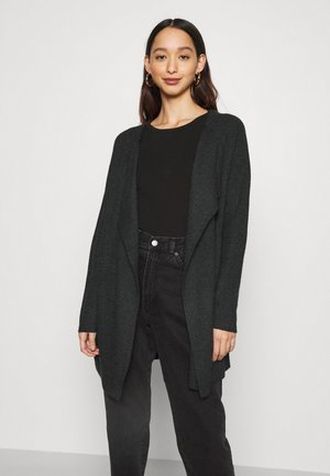 VIRIL OPEN OVERSIZE - Cardigan - dark grey melange