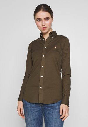 HEIDI LONG SLEEVE - Button-down blouse - defender green
