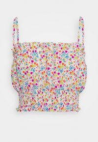 Topshop - FLORAL RUCHED SUNTOP - Top - multi coloured - 5