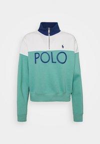 Polo Ralph Lauren - LONG SLEEVE - Mikina - deckwash white/tiki green - 0