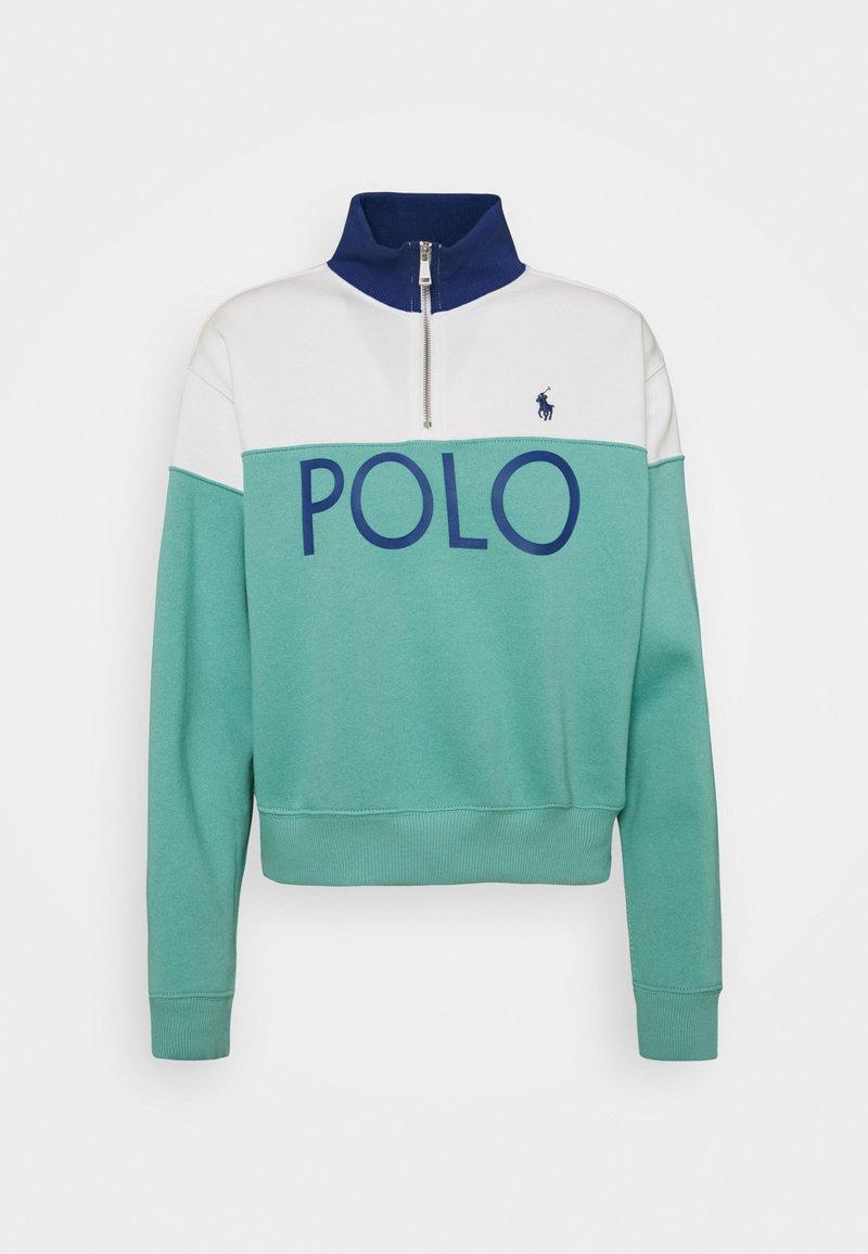 Polo Ralph Lauren - LONG SLEEVE - Mikina - deckwash white/tiki green