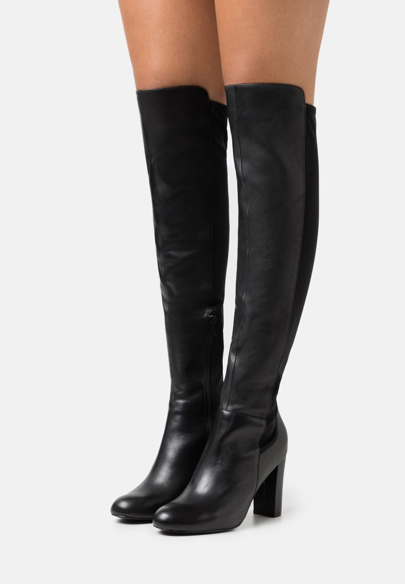 Anna Field - LEATHER - High heeled boots - black