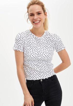 DEFACTO  WOMAN - T-Shirt print - white