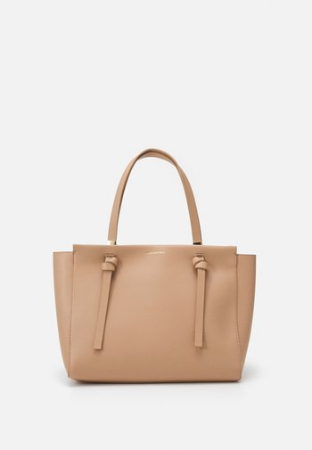 KACIE KNOTTED TOTE BAG - Tote bag - tan