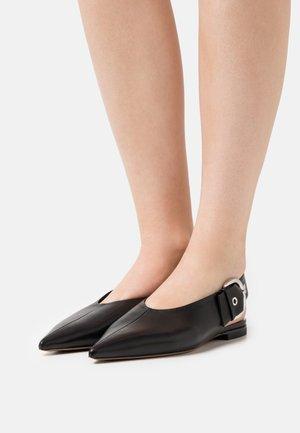 BALLERINA - Slingback ballet pumps - black