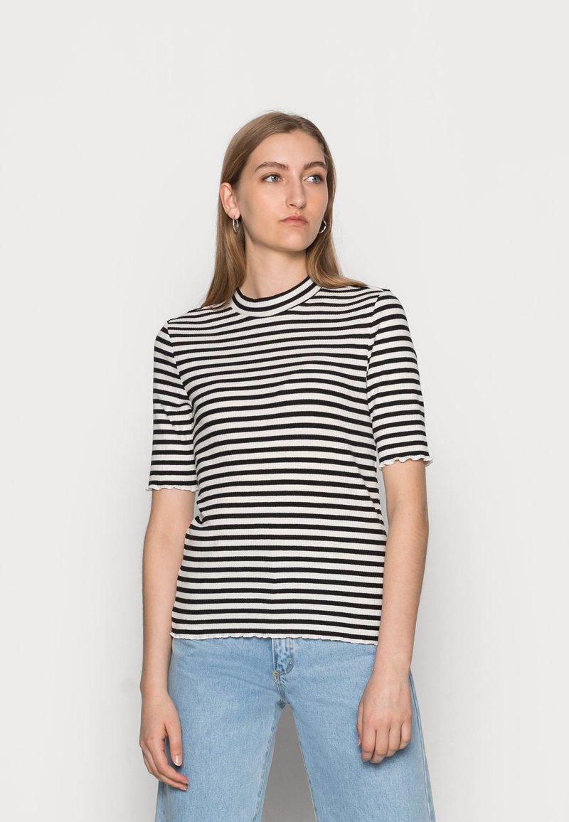 Selected Femme - ANNA CREW NECK TEE  - Print T-shirt - black