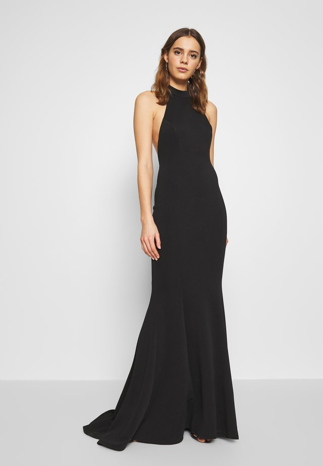 HALTERNECK GOWN WITH FISHTAIL HEM - Gallakjole - black