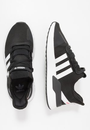 U_PATH RUN - Matalavartiset tennarit - core black/footwear white/shock red