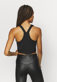 South Beach - SHINE LONGLINE MUSCLE BACK  - Top - black - 2