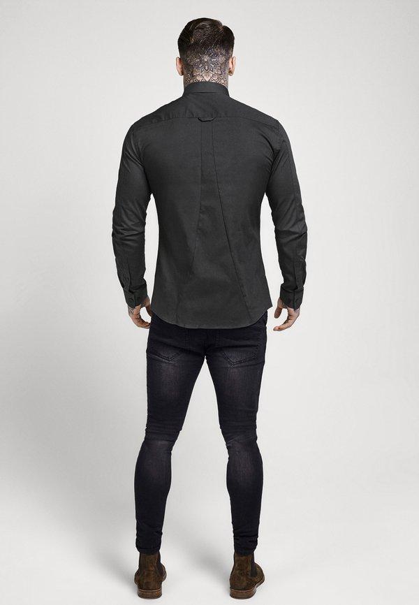 SIKSILK STRETCH - Koszula - dark grey/ciemnoszary melanż Odzież Męska DAMP