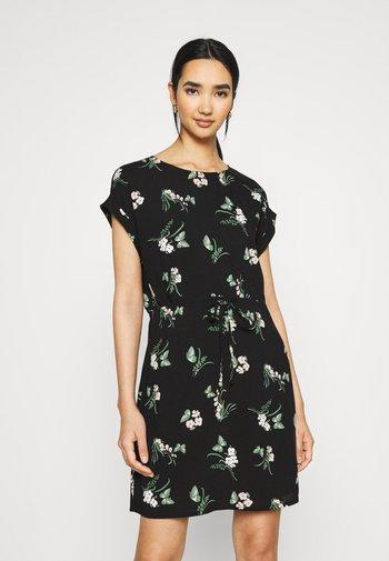 VMSIMPLY EASY TIE SHORT DRESS - Day dress - black