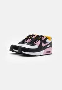 Nike Sportswear - AIR MAX 90 LTR GS - Sneakers laag - black/light arctic pink/white/dark sulfur - 1