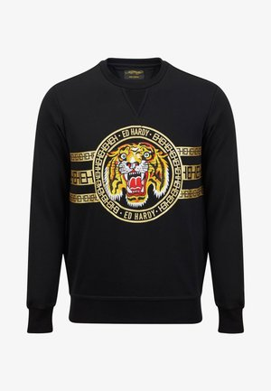 TIGER STRIPE CREW SWEAT - Sweatshirt - black