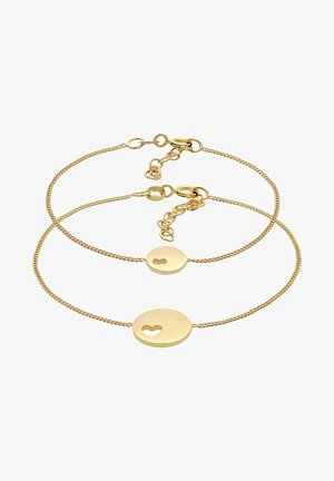HEART MOTHER CHILD  - Bransoletka - gold