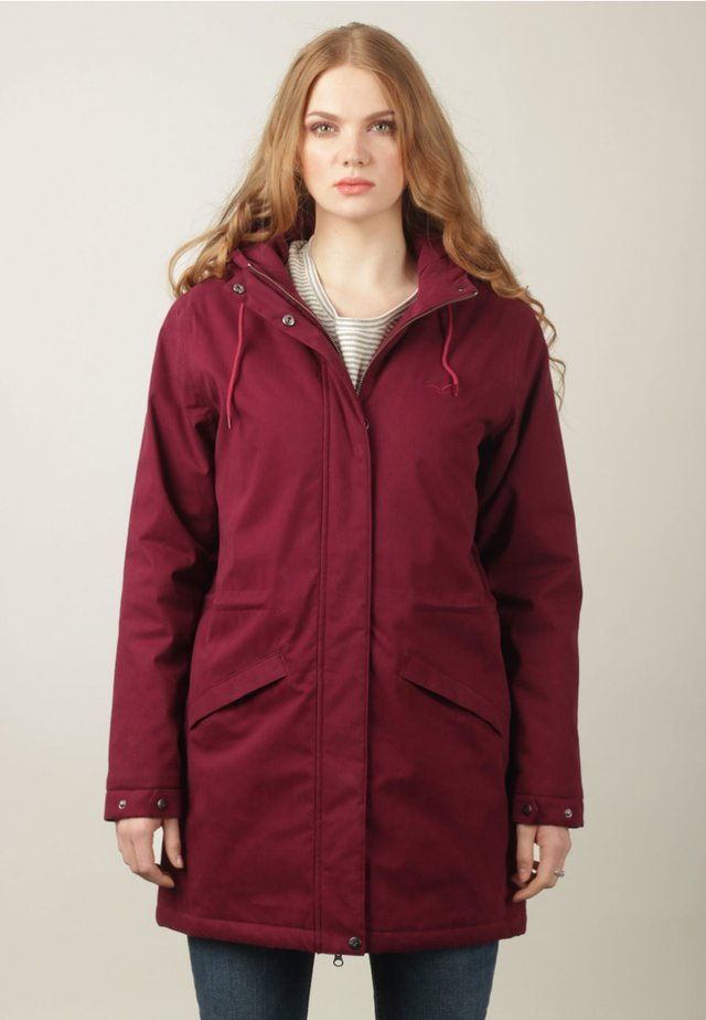 GRETA - Short coat - windsor wine