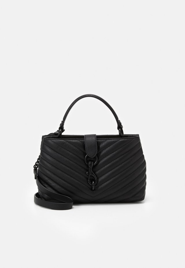 EDIE TOP HANDLE SATCHEL - Across body bag - black