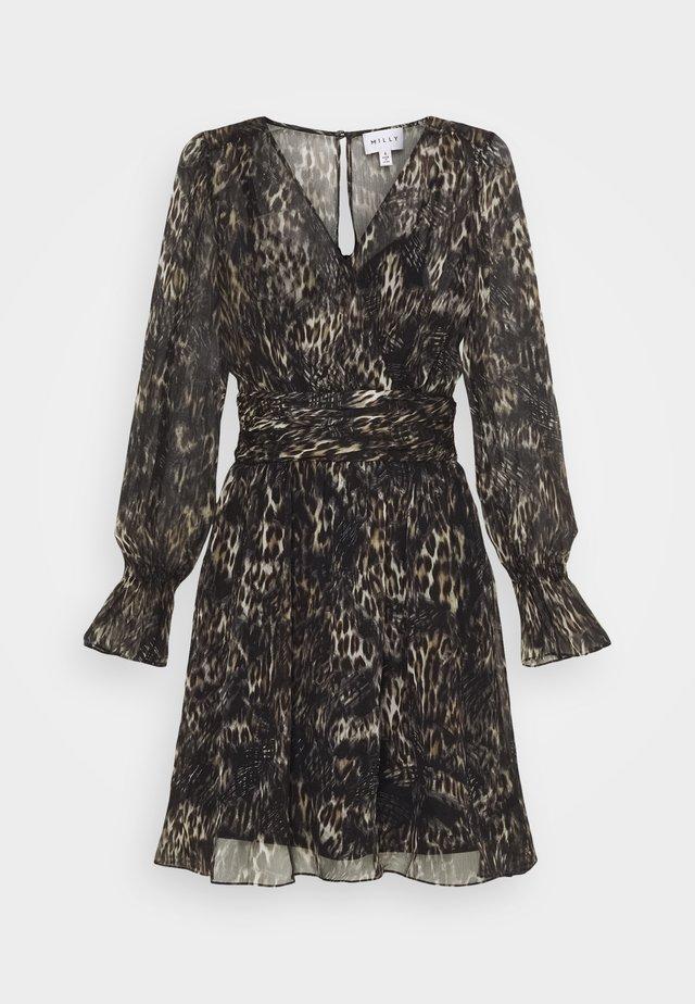 GLORIELLE DRESS 2-IN-1 - Korte jurk - black