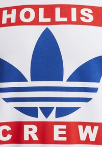 adidas Originals - RUN DMC TEE - T-shirt z nadrukiem - white /black /scarlet red - 12