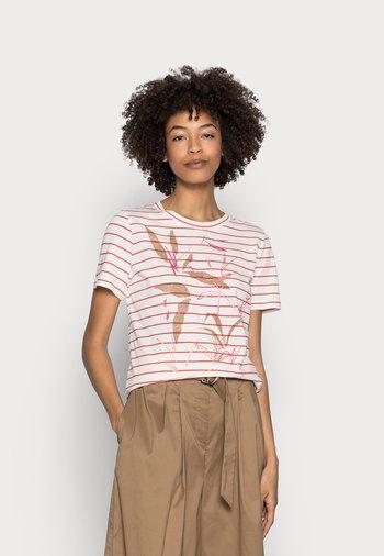 Print T-shirt - orange red