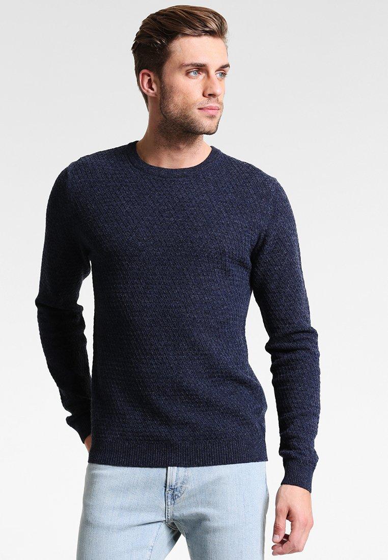 Pier One - Pullover - motled dark blue