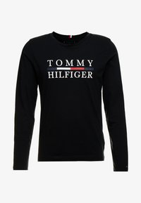 Tommy Hilfiger - LONG SLEEVE TEE - Long sleeved top - black